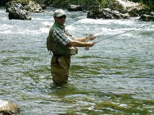 Cup fly fishing