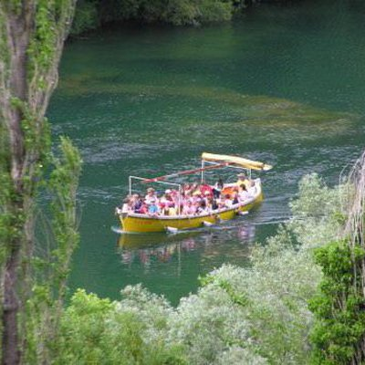 Boats on the river Cetina